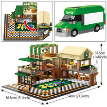 Load image into Gallery viewer, Cafe Coffee Shop Model Building Blocks Toy 2059 pcs + 12 dolls