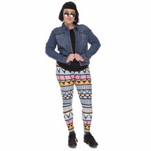 Load image into Gallery viewer, Aztec Niebieski Printing Plus Size Women Leggings