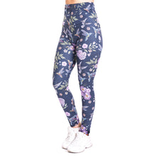 Load image into Gallery viewer, Humming bird imitate Jeans Printing High Waist Women Leggings