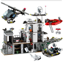 Load image into Gallery viewer, City Police Military Helicopter & Ship Building Blocks Toy 1548 pcs + 8 dolls