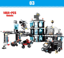 Load image into Gallery viewer, City Police Military Helicopter + Police Station Building Blocks Toy 1464 pcs + 10 dolls