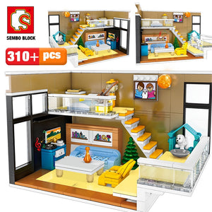 Nordic House Model Building Blocks Toy 310 pcs