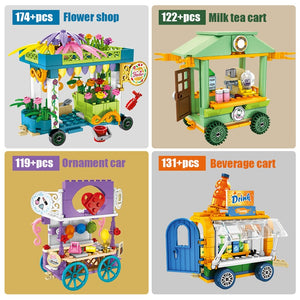 Ice Cream Car Truck and Snack Stall Modal 1 Building Blocks Toy 546 pcs + dolls