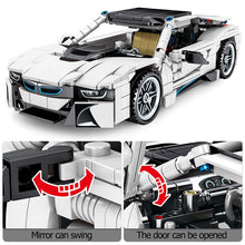 Load image into Gallery viewer, Pull Back Off-road White SUV Vehicles Model Building Blocks Toy 625pcs