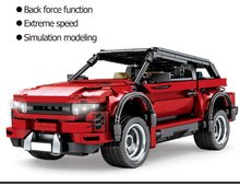Load image into Gallery viewer, Pull Back Off-road Red SUV Vehicles Building Blocks Toy 813 pcs