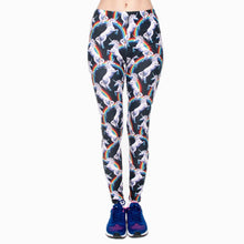 Load image into Gallery viewer, Rainbow Unicorn Printing High Waist Women Leggings