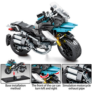 SEMBO BLOCK Off-road Motorcycle Model 2 Building Blocks Toy 255 pcs