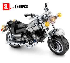 SEMBO BLOCK Off-road Motorcycle Model 3 Building Blocks Toy 249 pcs
