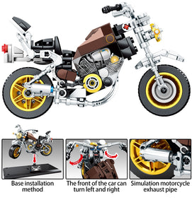 SEMBO BLOCK Off-road Motorcycle Model 1 Building Blocks Toy 243 pcs