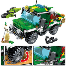 Load image into Gallery viewer, City Police Rescue Truck Off-road Car + Military Helicopter Ship Building Blocks Toy 460pcs + 4 dolls