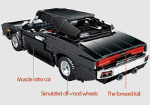 Load image into Gallery viewer, Pull Back Black Muscle Car Model Building Blocks Toy
