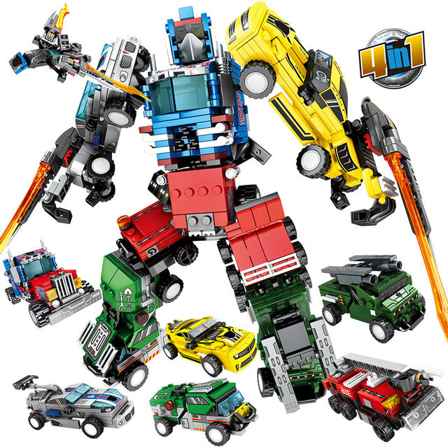 Transformation Robot Model 1 Building Blocks Toy