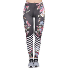 Load image into Gallery viewer, Multicolor Pattern 3D Printing High Waist Women Leggings