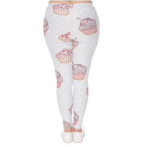 Muffin Dots Printing Plus Size Women Leggings