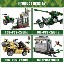 Load image into Gallery viewer, Military Series 2 WW2 Army Model Building Blocks Toy 711 pcs + 8 dolls