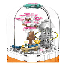 Load image into Gallery viewer, LED Light Rotating Box Cherry Blossom Tree House Building Blocks Toy 259 pcs + 1 doll