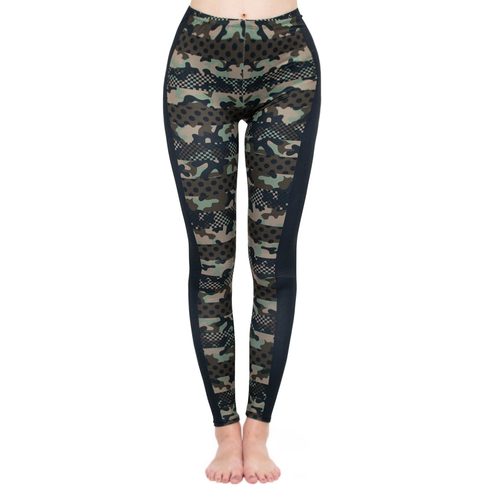 Camouflage Printing High Waist Women Leggings