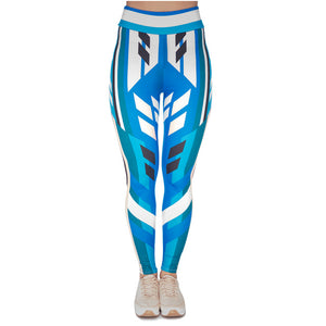 Cornflower Printing High Waist Women Leggings
