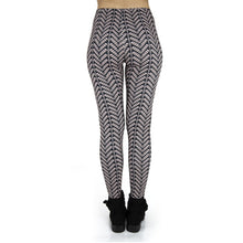 Load image into Gallery viewer, Black And White Stri Printing High Waist Women Leggings