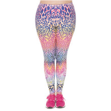 Load image into Gallery viewer, Color Leopard Printing Plus Size Women Leggings