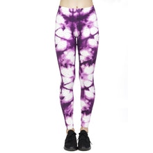 Load image into Gallery viewer, Purple Printing High Waist Women Leggings