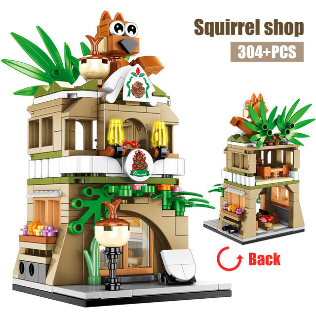 Squirrel Shop Retail Store Building Blocks Toy 304 pcs