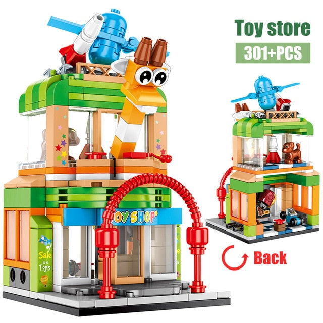 Toy Shop Retail Store Building Blocks Toy 301 pcs
