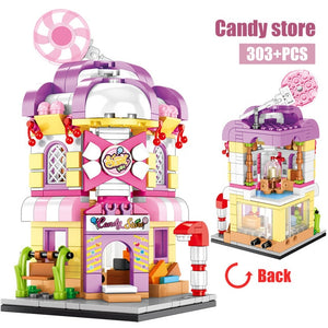 Candy Shop Retail Store Building Blocks Toy 303 pcs