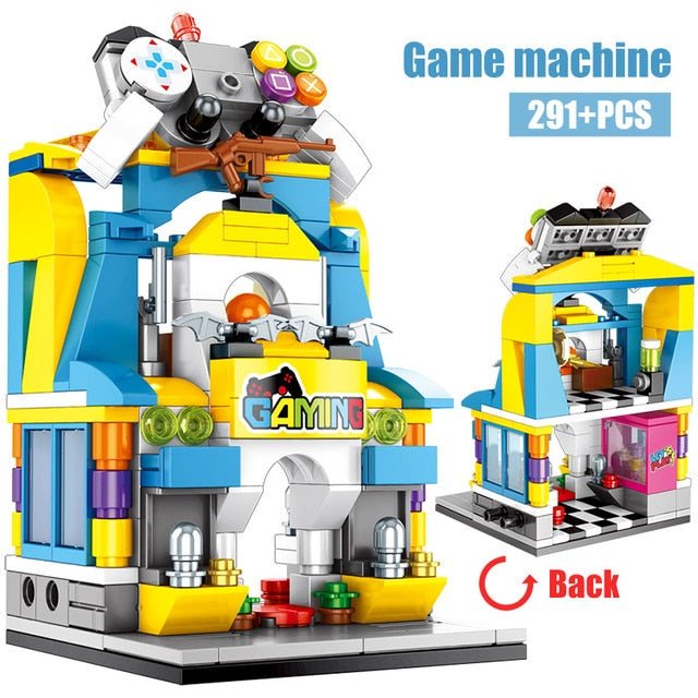 Game machine Retail Store Building Blocks Toy 291 pcs