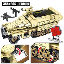 Load image into Gallery viewer, WW2 German 50.kfz.251 Armored Vehicle Building Blocks Toy 355 pcs + 4 dolls