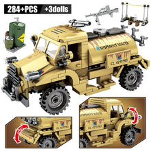 Load image into Gallery viewer, WW2 Canadian CMP C15A Military Truck Building Blocks Toy 284 pcs + dolls