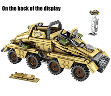 Load image into Gallery viewer, WW2 German 50.kfz.251 Armored Vehicle With Gun Building Blocks Toy 395 pcs + 4 dolls