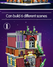 Load image into Gallery viewer, 5-in-1 USB Light Nightclub  Building Blocks Toy 2488 pcs + 8 dolls