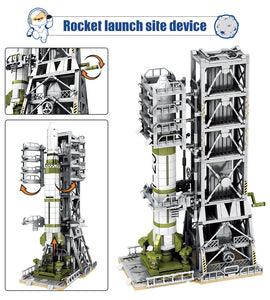 Aviation Rocket Satellite Launcher Model 1 Building Blocks Toy 1627 pcs + 6 dolls