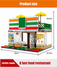 Load image into Gallery viewer, Retail Store Convenience Store Model 1 Building Blocks Toy 320 pcs + 3 dolls