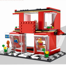 Load image into Gallery viewer, Retail Store Fast Food Restaurant K Model 2 Building Blocks Toy 282 pcs + 3 dolls