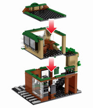 Load image into Gallery viewer, Retail Store Street Cafe Model 3 Building Blocks Toy 283 pcs + 3 dolls