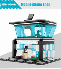 Load image into Gallery viewer, Retail Store Mobile Phone Shop Model 5 Building Blocks Toy 279 pcs + 3 dolls