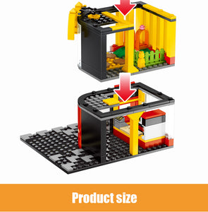 Retail Store Fast Food Restaurant M Model 6 Building Blocks Toy 274 pcs + 3 dolls