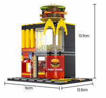 Load image into Gallery viewer, Retail Store Fast Food Restaurant M Model 6 Building Blocks Toy 274 pcs + 3 dolls