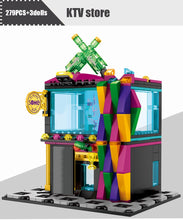 Load image into Gallery viewer, Retail Store KTV Store Model 7 Building Blocks Toy 279 pcs + 3 dolls