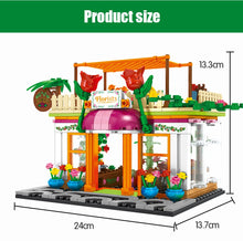 Load image into Gallery viewer, Retail Store Flower Shop Model 8 Building Blocks Toy 322 pcs + 3 dolls