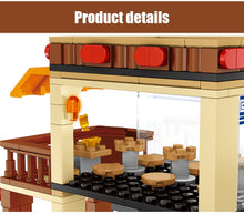 Load image into Gallery viewer, Retail Store Noodle Shop Model 4 Building Blocks Toy 365 pcs + 3 dolls
