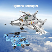 Load image into Gallery viewer, Military Carrier Fighter Model Building Block Toy 366 pcs + 2 dolls