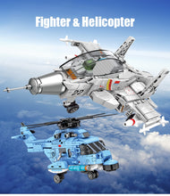 Load image into Gallery viewer, Military Helicopter Model Building Block Toy 375 pcs + 2 dolls