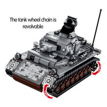 Load image into Gallery viewer, Military Series WW2 German Steel Tank Building Blocks Toy 596 pcs + 4 dolls