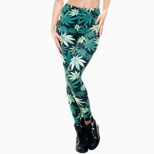 Load image into Gallery viewer, Weeds 3D Printing High Waist Women Leggings