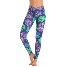 Load image into Gallery viewer, Colored Dog Paw Printing High Waist Women Leggings