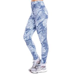 Tropical leaves imitate Jeans Printing High Waist Women Leggings