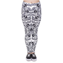 Load image into Gallery viewer, Mandala Black Printing High Waist Women Leggings